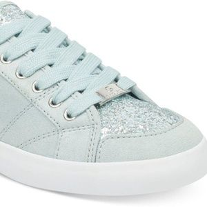 G By Guess Women Ladies Green Glitter Sneakers